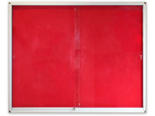 DISPLAY CASE PINNING BOARD 1500*1200MM RED - Bigoffice.co.za