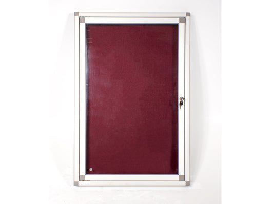 DISPLAY CASE PINNING HINGE 900*600MM BURGUNDY - Bigoffice.co.za