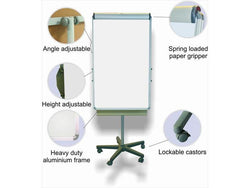 FLIPCHART MAGNETIC CASTORS 1000*640MM - Bigoffice.co.za