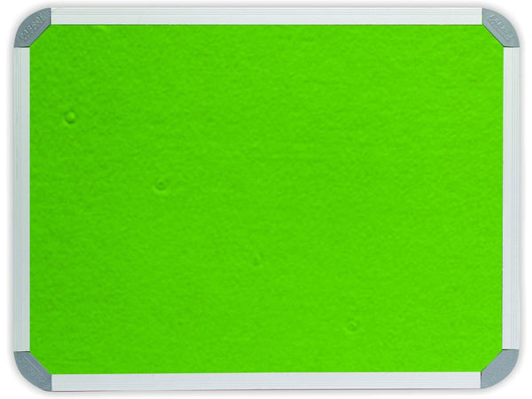 INFO BOARD ALUMINIUM FRAME 1200*1200MM LIME GREEN - Bigoffice.co.za