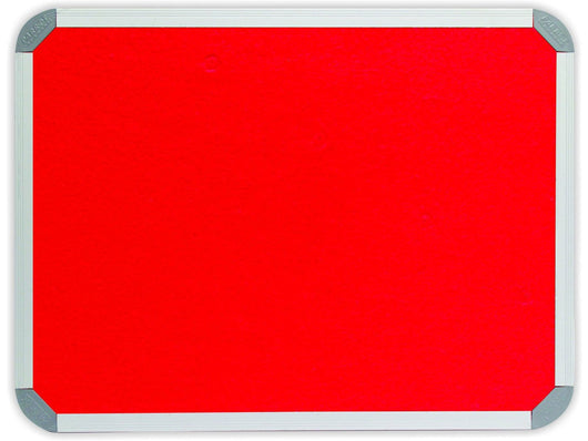 INFO BOARD ALUMINIUM FRAME 3000*1200MM RED - Bigoffice.co.za