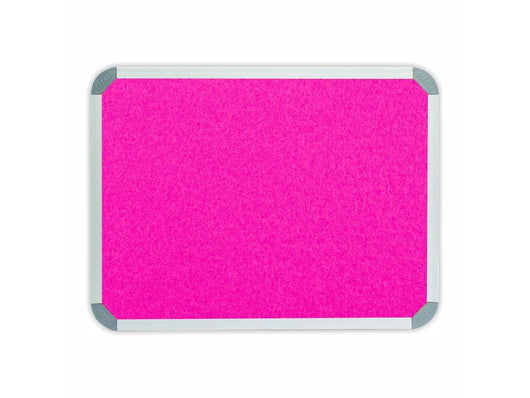 INFO BOARD ALUMINIUM FRAME 900*600MM PINK - Bigoffice.co.za