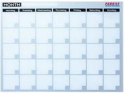 MONTHLY PLANNER CAST ACRYLIC 600 X 450MM - Bigoffice.co.za
