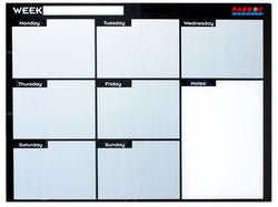 WEEKLY PLANNER CAST ACRYLIC 600 X 450MM - Bigoffice.co.za