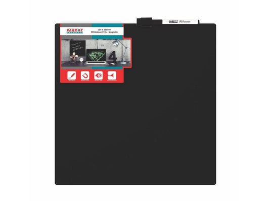 WHITEBOARD TILE MAGNETIC 355x355mm BLACK - Bigoffice.co.za