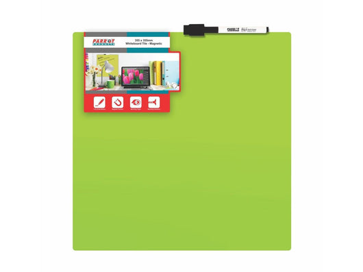 WHITEBOARD TILE MAGNETIC 355x355mm GREEN - Bigoffice.co.za