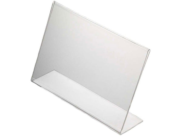 ACRYLIC MENU HOLDER SINGLE SIDED A4 LANDSCAPE – BOX OF 10 - Bigoffice.co.za