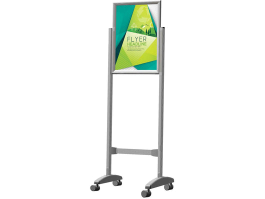 STAND POSTER FRAME CASTORS DOUBLE SIDED A0 - Bigoffice.co.za