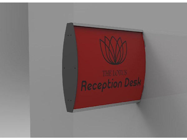 SIGN FRAME 100 x 300MM DBL SIDED WALL MOUNTED (M) - Bigoffice.co.za