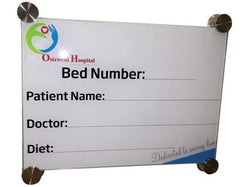 300x350mm Hospital Glass Bed Board with Print - Bigoffice.co.za