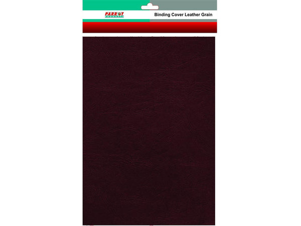 BINDING COVER LEATHER GRAIN A4 BROWN 250GSM (25) - Bigoffice.co.za