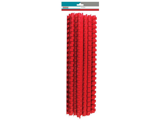 BINDER COMB ELEMENT PLASTIC 50 SHT 8MM RED (25) - Bigoffice.co.za