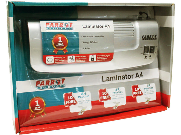 LAMINATING MACHINE A4 2 ROLLER RETAIL PACK - Bigoffice.co.za