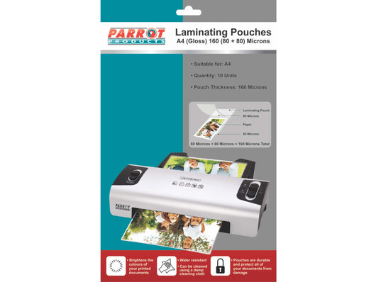 LAMINATING POUCH A4 220x310 160(80+80) MIC PACK 10 - Bigoffice.co.za