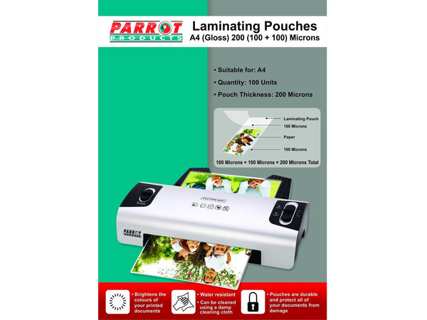 LAMINATING POUCH A4 220X310 200(100+100)MIC BOX100 - Bigoffice.co.za