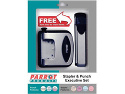 STAPLER/PUNCH EXEC SET STEEL 20/30 PAGES SILVER - Bigoffice.co.za
