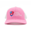 Kids Lives Matter Snapback Hat - Pink/White