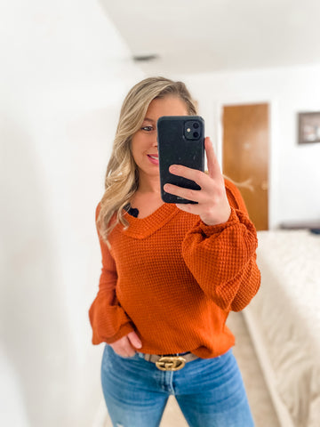 Rust Long Sleeve Top