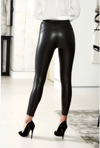 High waisted coated leggings