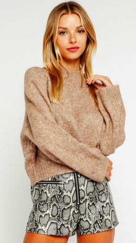 Cozy mock neck sweater