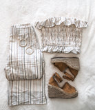Yarn striped top