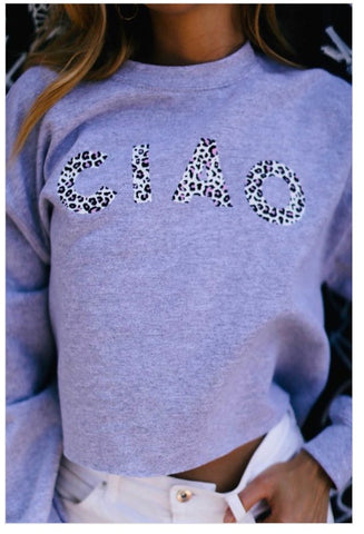 Ciao Crop Sweatshirt