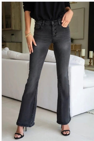 Black Washed Flare jeans