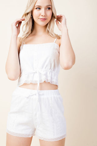 Two Piece White Set