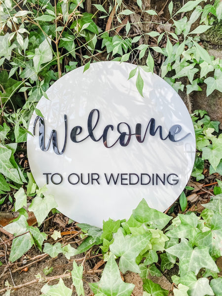 Welcome to our Wedding - acrylic layered
