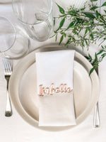 Name place-card setting (script)