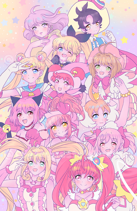 Magical Girls! Large Print