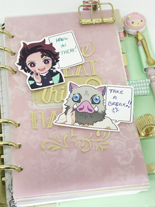 Taisho Secret Stickers! - write on stickers! - Kimetsu No Yaiba | Demon Slayer