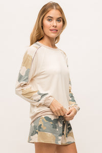 Long Sleeve Camo Pullover | Mystree