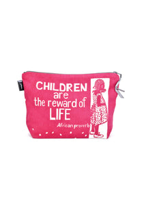 Children are the Reward African Proverb Pouch | Swahili Modern