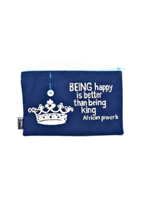 Being Happy is Better African Proverb Pouch | Swahili Modern