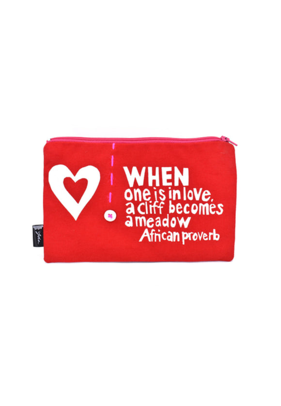 When is One is in Love African Proverb Pouch | Swahili Modern