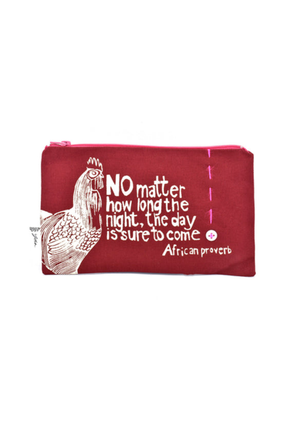 The Day is Sure to Come African Proverb Pouch | Swahili Modern
