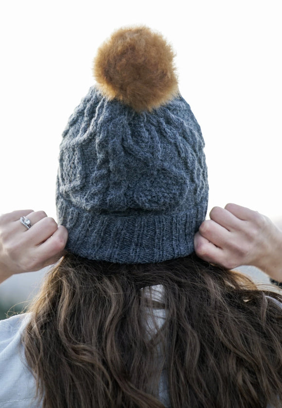 Braided Pom Hats | Andes Gifts