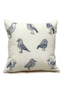 "Bird Sketch 16"" Square Pillow"