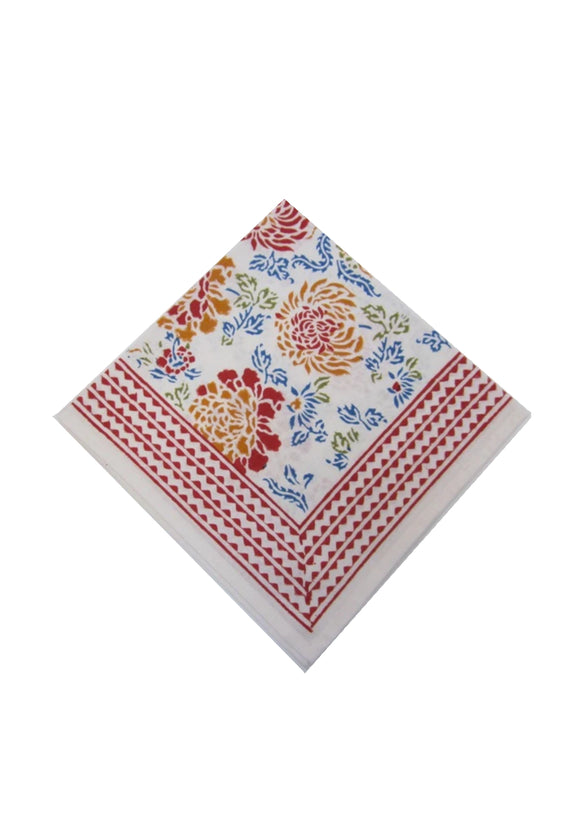 Canton Flower Hand Block Printed Napkins | Sold Individually