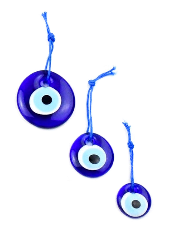 Round Glass Evil Eyes from Turkey - 3 Sizes Available