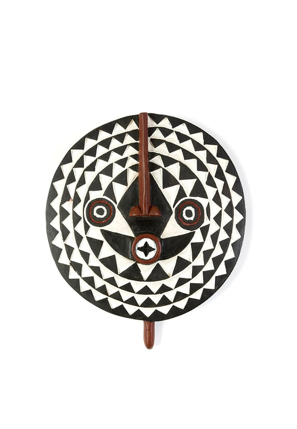 Bwa Wooden Sun Mask | Swahili Modern