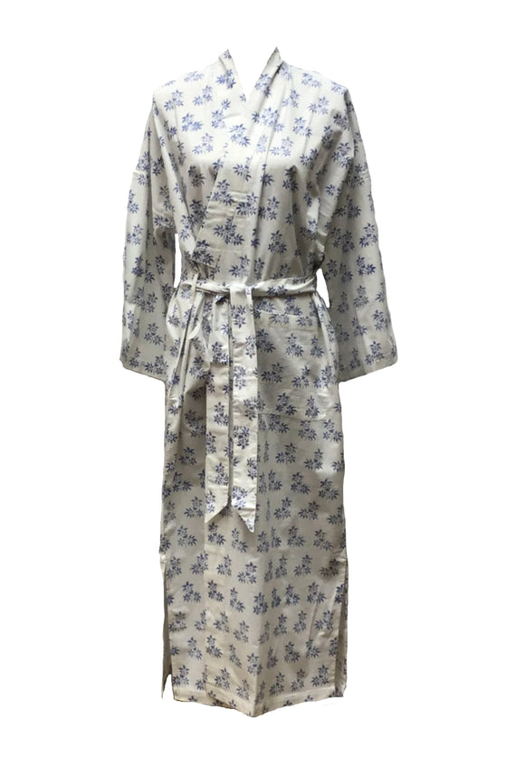Blue Jasmine Robe in Cotton
