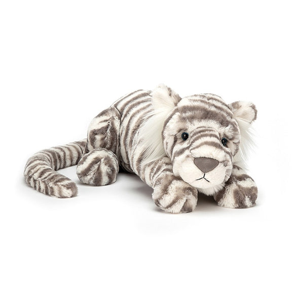 Jellycat Medium Sacha Snow Tiger