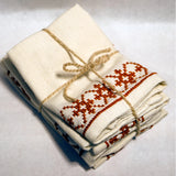 Snowflake Embroidered Napkins | Set of 4