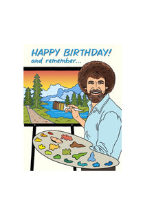 Bob Ross Birthday Card