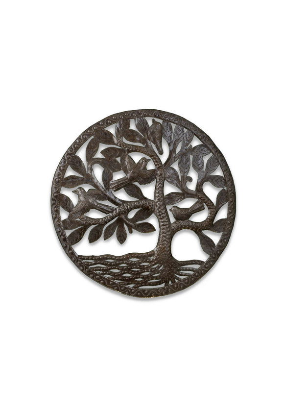 Easy Breezy Tree Haitian Iron Wall Art