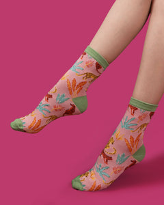 Jungle Ankle Socks | Powder