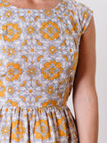 Chilmark Dress in Yellow Tile | Mata Traders