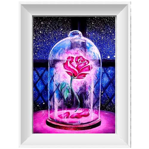 Diamond painting- Roos in  fles - 20*25cm